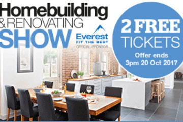 Homebuilding and renovating show ticket offer