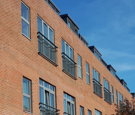 Aluminium Juliet balconies deliver cost and time savings.